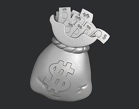 STL models for 3D printing and CNC money bag