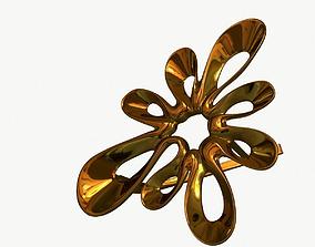 models 3D Earrings Gold