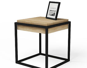 Modern Nightstand with Picture Frame 3D model