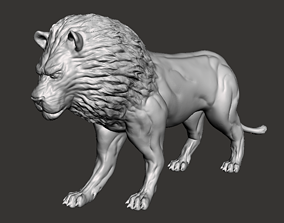 3D printable model Lion Sculpture