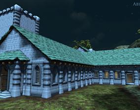 3D Modular MedievalChurchSet