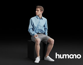 Humano Sitting man 0609 3D model