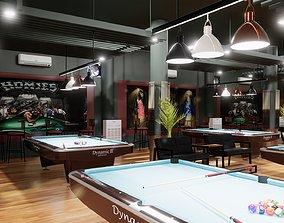 Cafe design billiards 3D