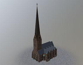 3D model Hamburg St Petri Kirche