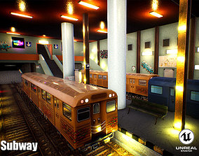 3D asset Subway Unreal Engine