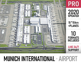 3D asset realtime Munich International Airport - MUC