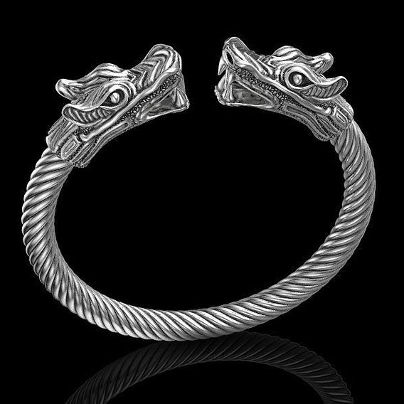 Bracelet dragon great 3D print model