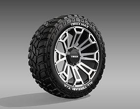 3D model All Terrain Tire and Rim