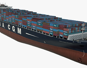 Container ship CMA Medea Low-poly 3D model