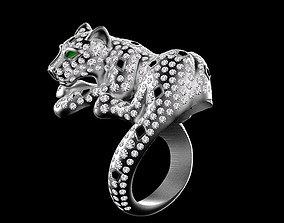 3D print model pendant panther ring