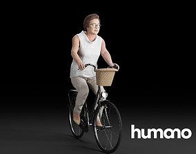 3D model Humano Biking Woman 0705