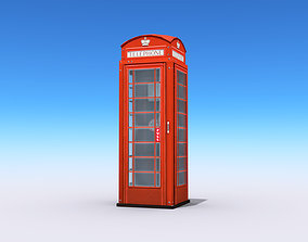 British Phone Booth 3D model VR / AR ready
