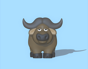 A cute Buffalo to decorate and play 3D printable model