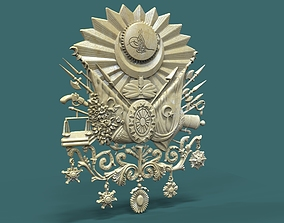 Coat of Arms of the Ottoman Empire 3D print model