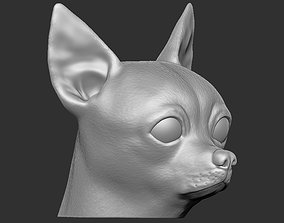 Chihuahua head for 3D printing