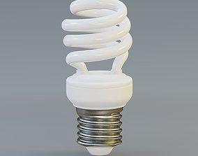Spiral fluorescent bulb 3D model