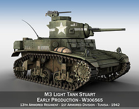 3D model M3 Light Tank Stuart - W306565