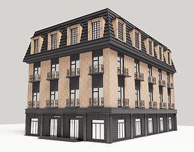 multi 3D model Modern townhouse