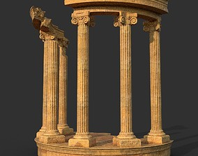 3D model Low poly Ancient Roman Ruin Construction 05 -