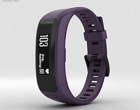 3D Garmin Vivosmart HR Imperial Purple