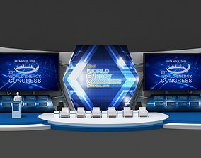 3D model Executive Meeting Stage Decor 77