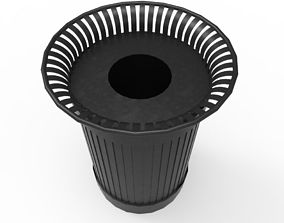3D asset low-poly street bin
