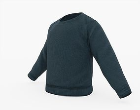 Blue Sweater 3D asset
