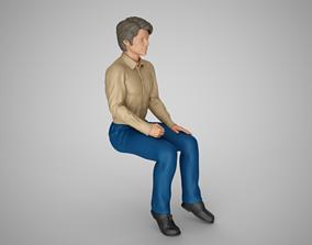 3D print model Sitting Man
