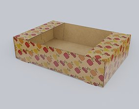 Cardboard tray for products 3D