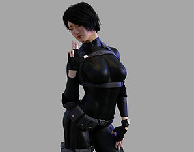 3D model Female Asian Spy - Tactical Agent