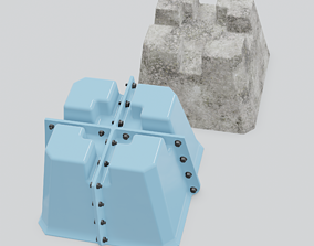 3D print model Mold for casting of deck blocks made of