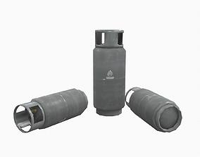 Lpg gas tank low poly 3D asset
