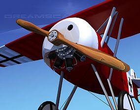3D Fokker DVIII V01