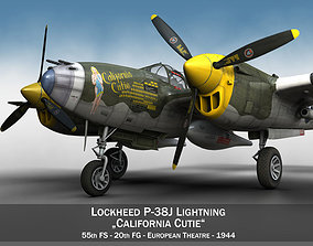 3D Lockheed P-38 Lightning - California Cutie