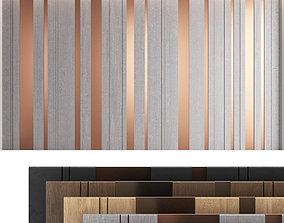 Decorative wall panel set 17 3D model