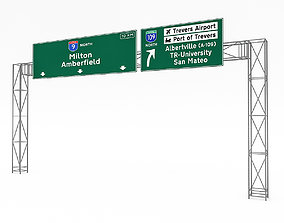 3D Traffic Sign Model 06 game-ready