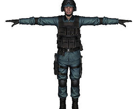 Counter Strike - Counter Terrorist T Pose Model 3D asset