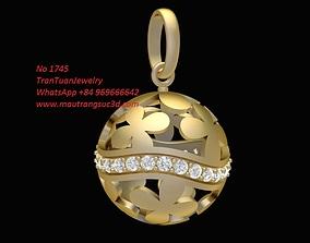 1745 Diamond Flower Ball Pendant 3D printable model