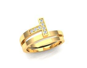 Beautiful ring gold 3D print model