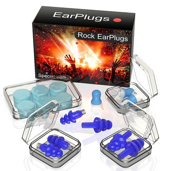 Rock earplugs 3d model for advertising