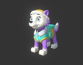 3D asset Everest Paw Patrol