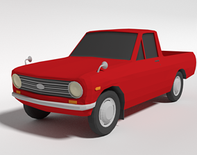 Low Poly Cartoon Datsun 1000 Pickup B20 3D asset
