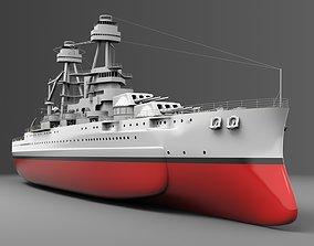Watercraft 1 - USS Arizona 3D model