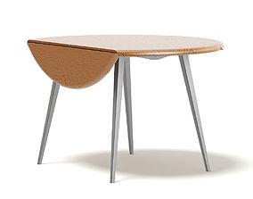 Round Folding Table 3D Model