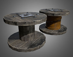 3D asset Wire Spool - PBR Game Ready