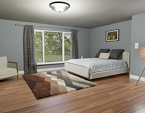 bedroom 3D model Realistic Bedroom