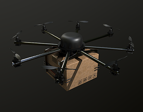 3D model Cargo drone-medic and package