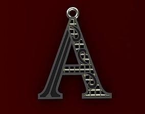 3D printable model Alphabet Pendant