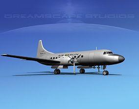 Convair CV-340 Air Berlin 3D