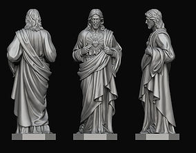 3D print model Jesus with Sacred Heart Statue 2 religious